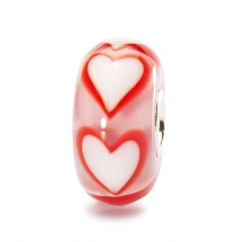 Trollbeads Asian Hearts Glass Bead TGLBE-10149